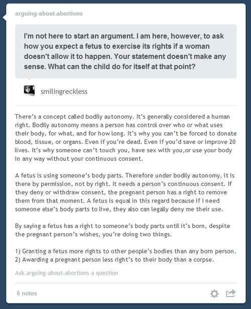 Bodily autonomy is a human right- this is how that concept is applied to abortion, supporting pro-choice ideology.