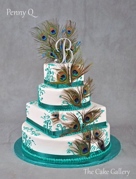 peacock colored wedding cakes 17 best images about anniversary cakes on 18155