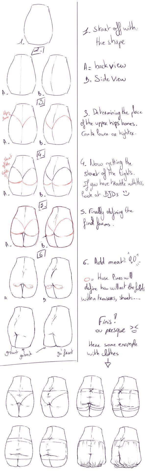 How I draw buttocks by rika-dono.deviantart.com on @DeviantArt