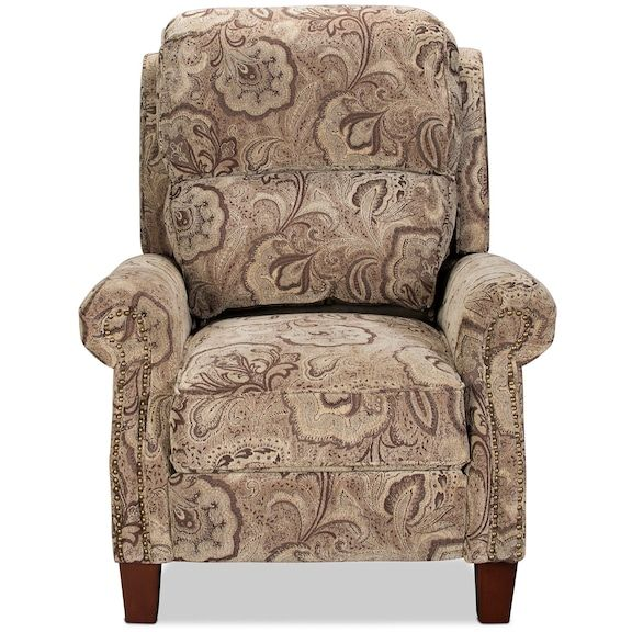Living Room Furniture Canelo High Leg Recliner Paisley Levin Furniture Traditional Chairs Furniture