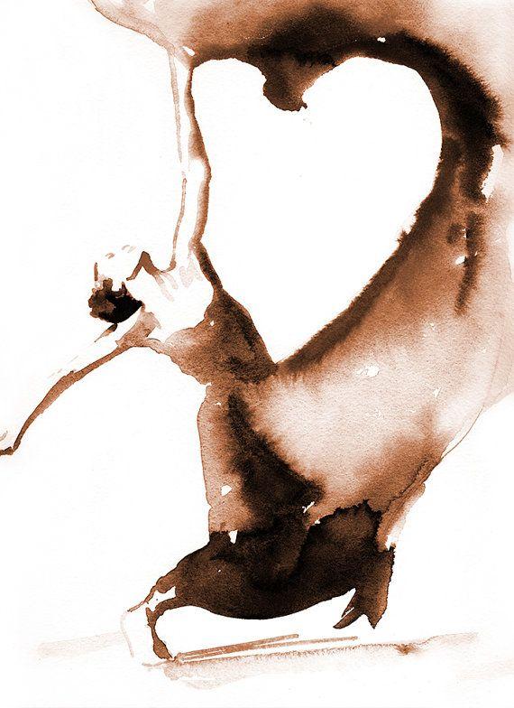 Contemporary Dancer Print Dancer in motion by silverridgestudio
