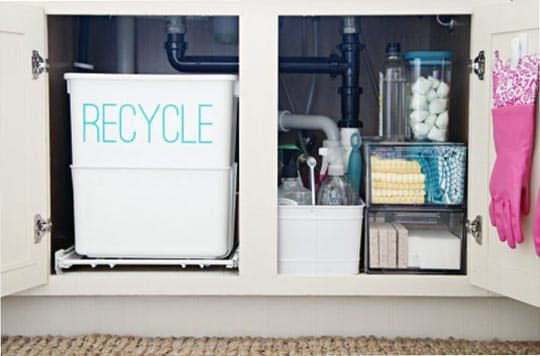 An Example of Beautiful Organization Under the Kitchen Sink!