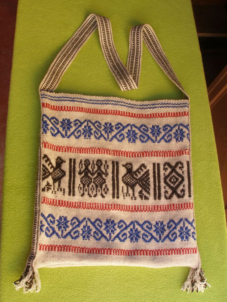 Woven Bag - Huichol Textile Art - Latin - Mexican Folk Art Craft