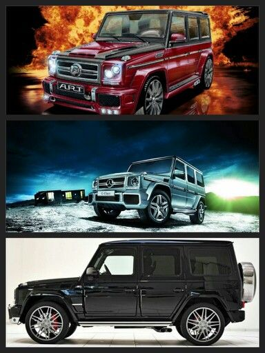 The Mercedes Benz G63. The most expensive Mercedes SUV.