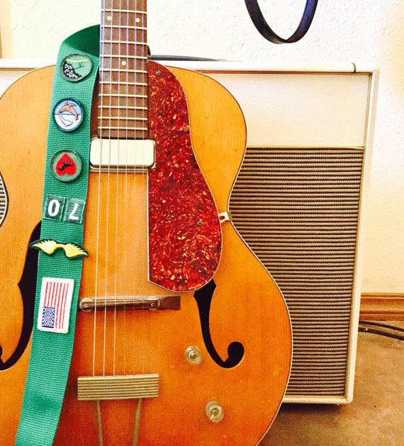 Vintage Girl Scout Sash guitar instrument trap brownie boy