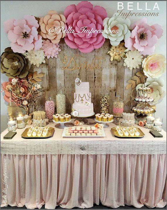 Sfondo fiore di carta-tutti i fiori in immagine-dessert tavolo