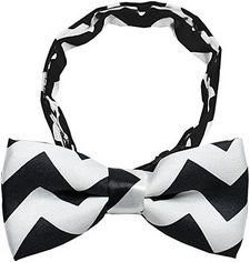 Mirage Pet Products 48-40 Black Chevron Dog Bow Tie, Small