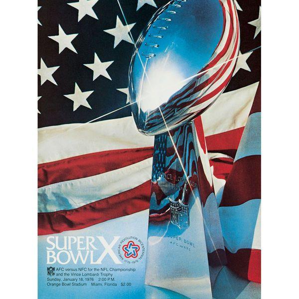 "Fanatics Authentic 1976 Steelers vs. Cowboys 36"" x 48"" Canvas Super Bowl X Program - $179.99"