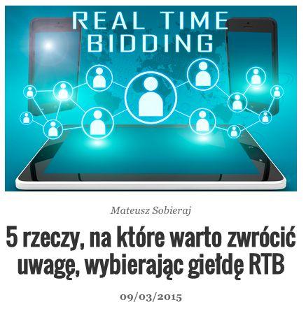 Giełda RTB - co jest ważne podczas dokonywania wyboru. http://bit.ly/gielda-rtb