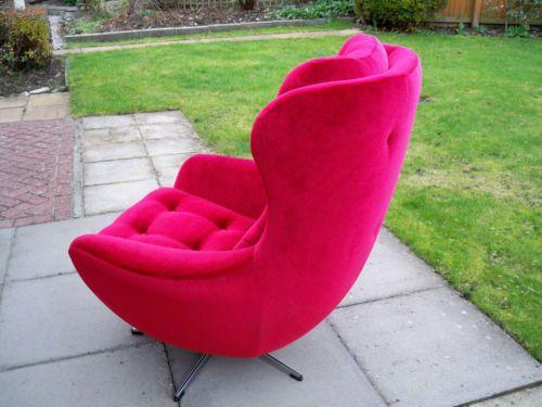 Vintage Retro Swivel Rocking Egg Chair Parker Knoll Type