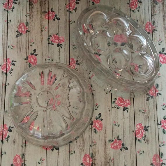 Vintage Heavy Glass Jelly Moulds Different Shapes J And J Pyrex