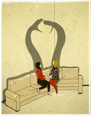 Art by Emiliano Ponzi. Pretty much describes women in general. more funny pics…