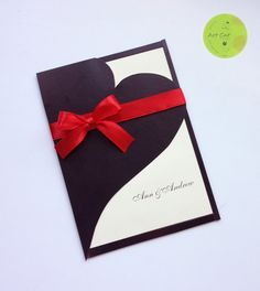 Wedding Invitation Invitation Heart Chocolate by ArtCatWedding