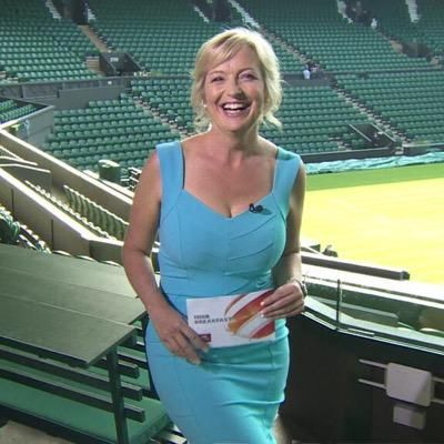 Carol Kirkwood wearing the dress named after her: the Kirkwood dress in Celeste Blue,. #gorgeous #stunning #Diva #DivaCatwalk