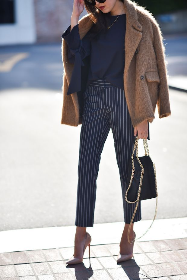 Pants with stripes: the pattern trend 2019
