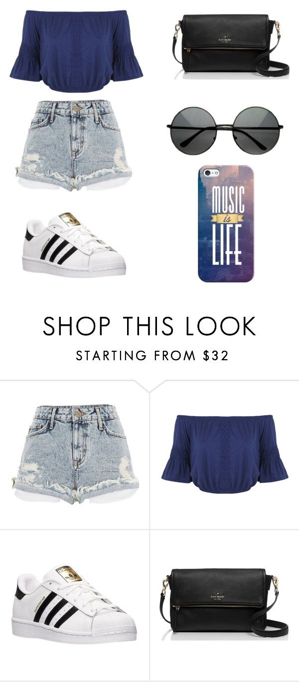 """""""Untitled #95"""" by karenrodriguez-iv on Polyvore featuring River Island, Miss Selfridge, adidas, Kate Spade, Casetify, women's clothing, women, female, woman and misses"""