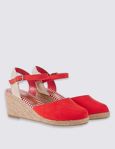 Wide Fit Wedge Heel Closed Toe Espadrilles | Marks & Spencer London