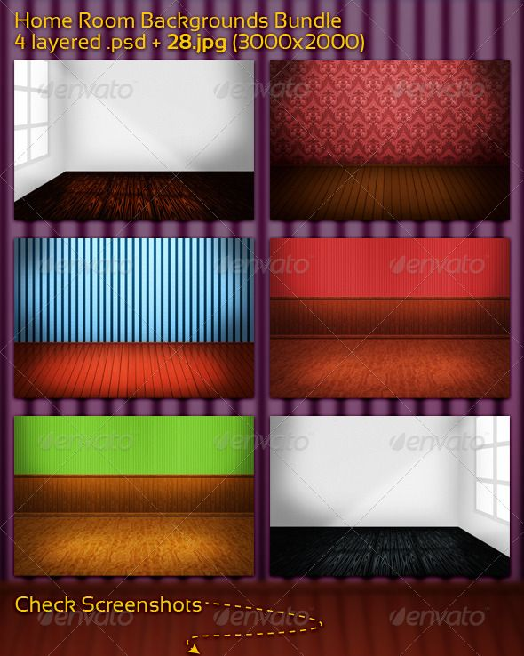 Home Room Backgrounds Bundle  #GraphicRiver        28 great room bacgrounds 4 layered .psd + 28 .jpg (3000×2000) all easy to edit!  Check what you will get!                     Created: 15November11 GraphicsFilesIncluded: PhotoshopPSD #JPGImage Layered: Yes MinimumAdobeCSVersion: CS5 PixelDimensions: 3000x2000 PrintDimensions: 10x6.6 Tags: ancient #antique #backgrounds #baroque #blank #border #brown #bundle #decoration #design #elegance #floor #house #interior #modern #old #ornament #plank…
