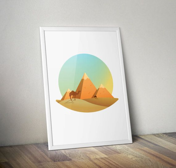 Great Pyramid of Giza, Egypt wall art,inspirational poster, wall decor  SIZE This print is available in a selection of sizes therefore simply