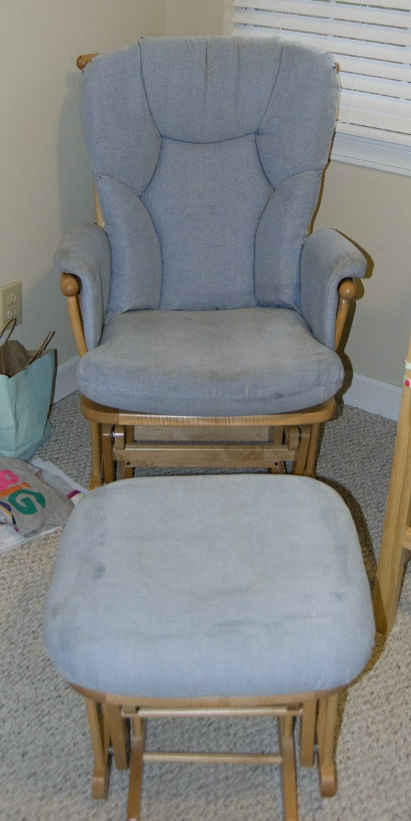 Glider Slipcover Tutorial (Lily of the Palms)