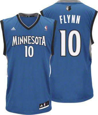 Minnesota Timberwolves Jonny Flynn 10 Blue Authentic Jersey Sale