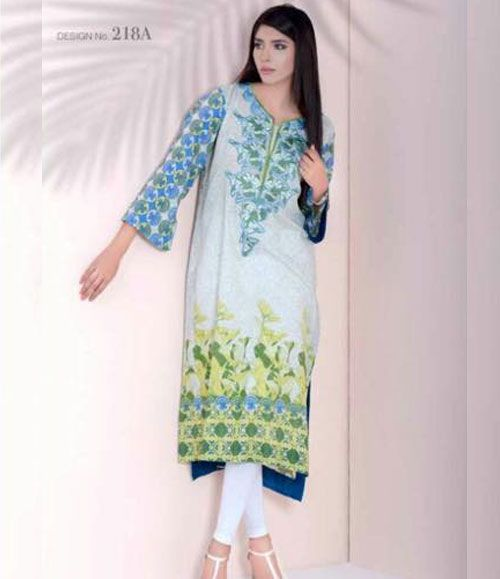 Doha embroidered lawn kurtis collection 218_A