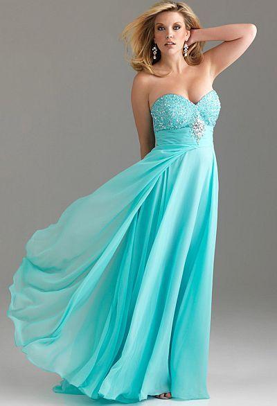 -Plus Size Prom Dress.