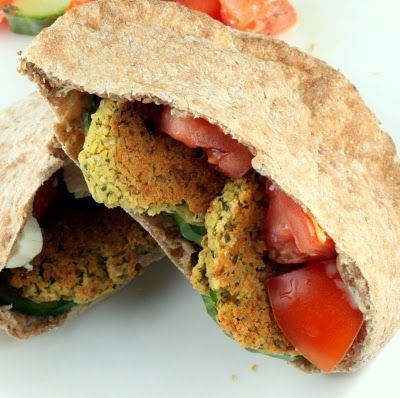 Baked Falafel, YUMMM!! serve with pita bread, tzatziki sauce and Greek ...