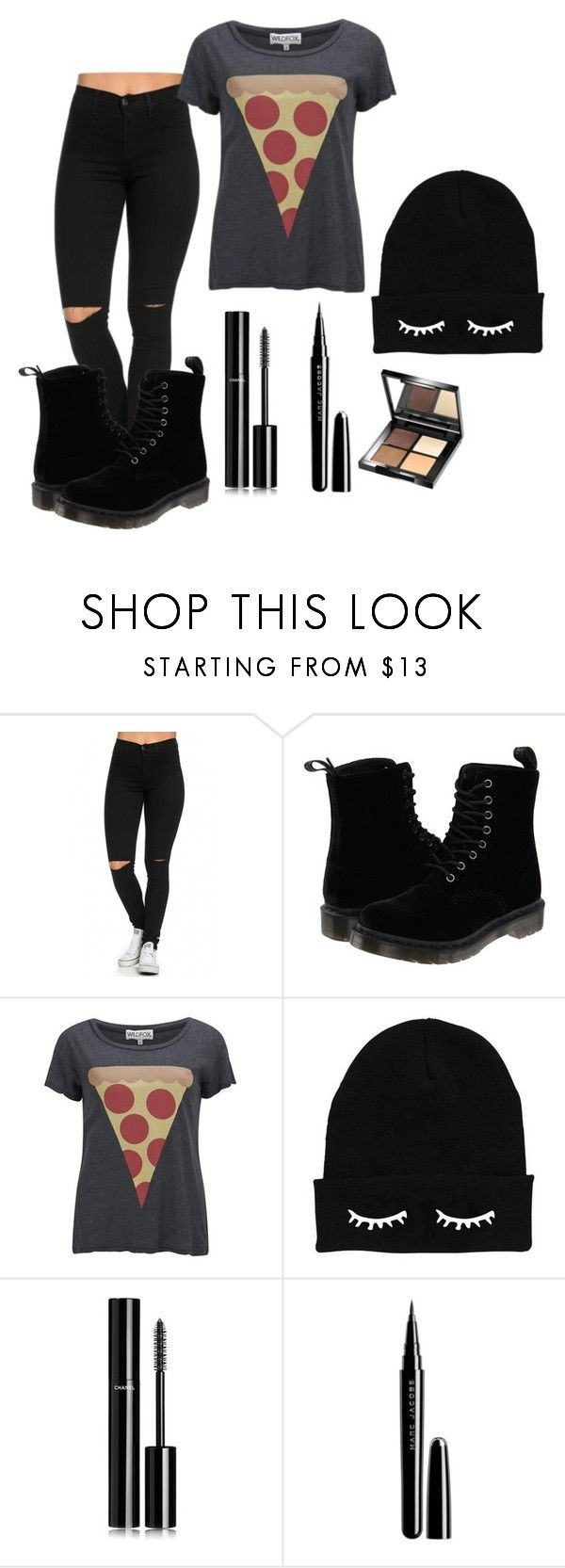"""Untitled #6"" by keepsmileanna on Polyvore featuring beauty, Dr. Martens, Wildfox, Chanel, Marc Jacobs and Organic Glam"
