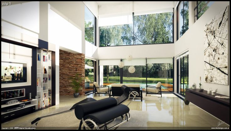 MODERN HOME INTERIORSModern House Interior Wip 1 by diegoreales