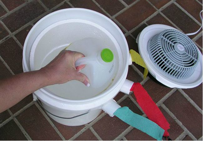 Make your own DIY air conditioner with a 5 gallon bucket