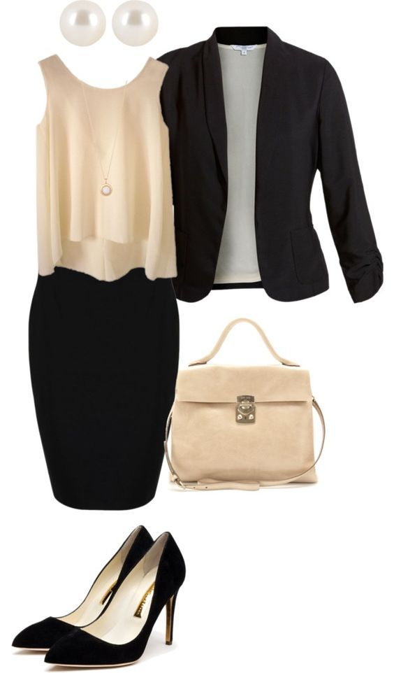Tank Top, Pencil Skirt and Blazer