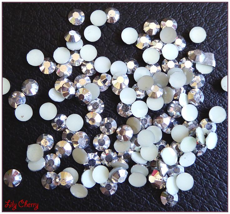 Strass argenté reflet multicolore bulle effet x10 : Cabochons, demi-perles par lilycherry