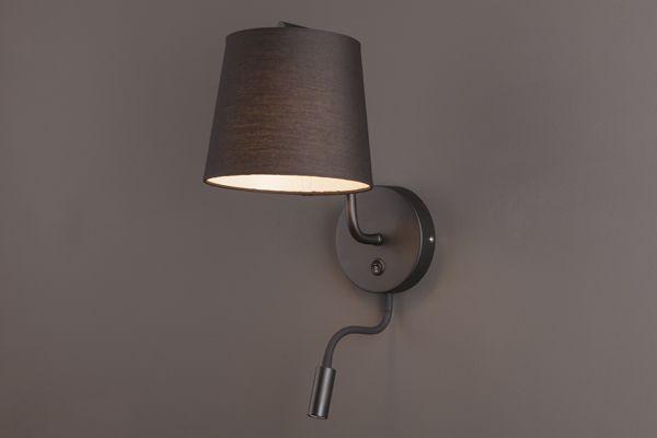 Lampa CHICAGO II BK kinkiet+led MAXlight lampy - oświetlenie domu