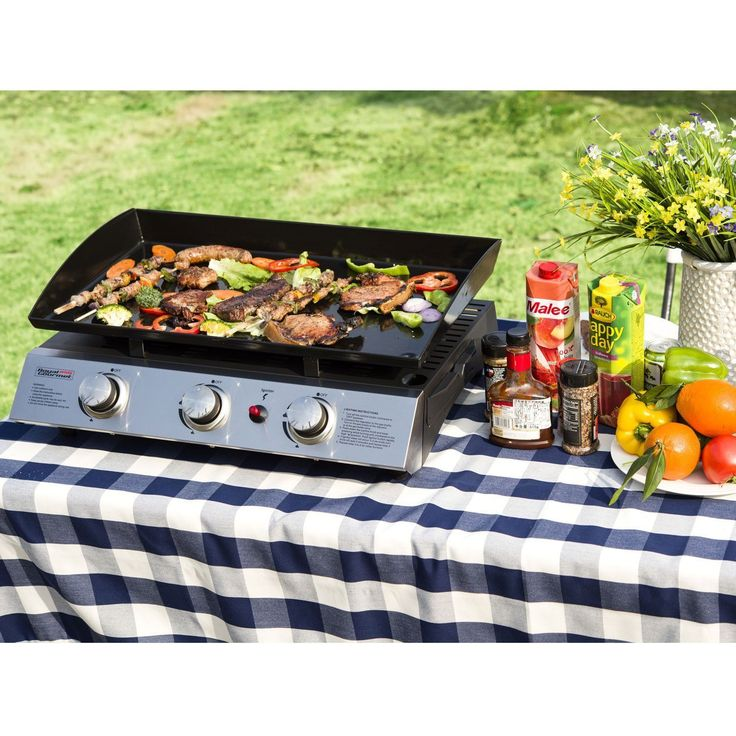 Royal Gourmet Portable 3-Burner Propane Gas Grill Best Offer 2017. Royal Gourmet PD1300 Portable 3-Burner Propane Gas Grill Griddle. Durable stainless steel control panel with piezo ignition system; Side grease cup to coll. #Royal #Gourmet #Portable 3-Bur