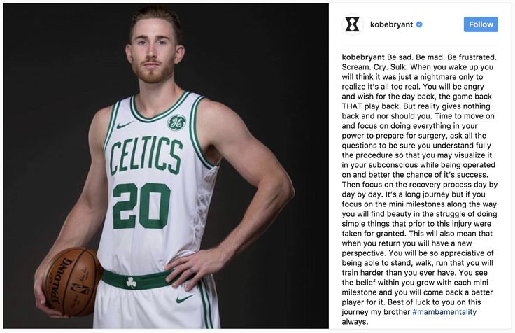 [Image] Kobe's message to Hayward after his injury http://bit.ly/2mvUxoF #motivation