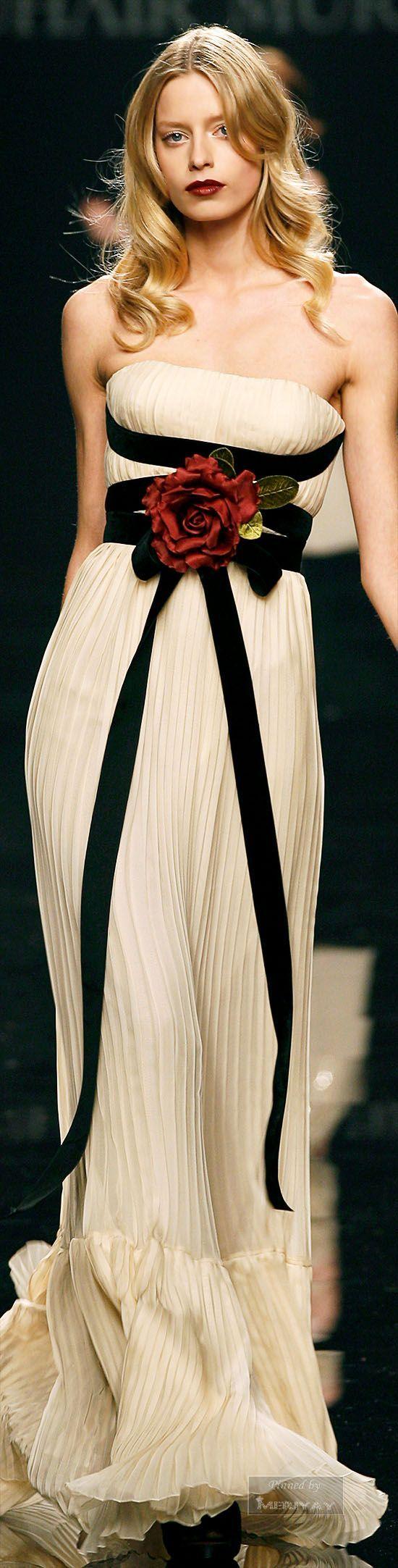 Zuhair Murad ~ Strapless Evening Gown, Beige