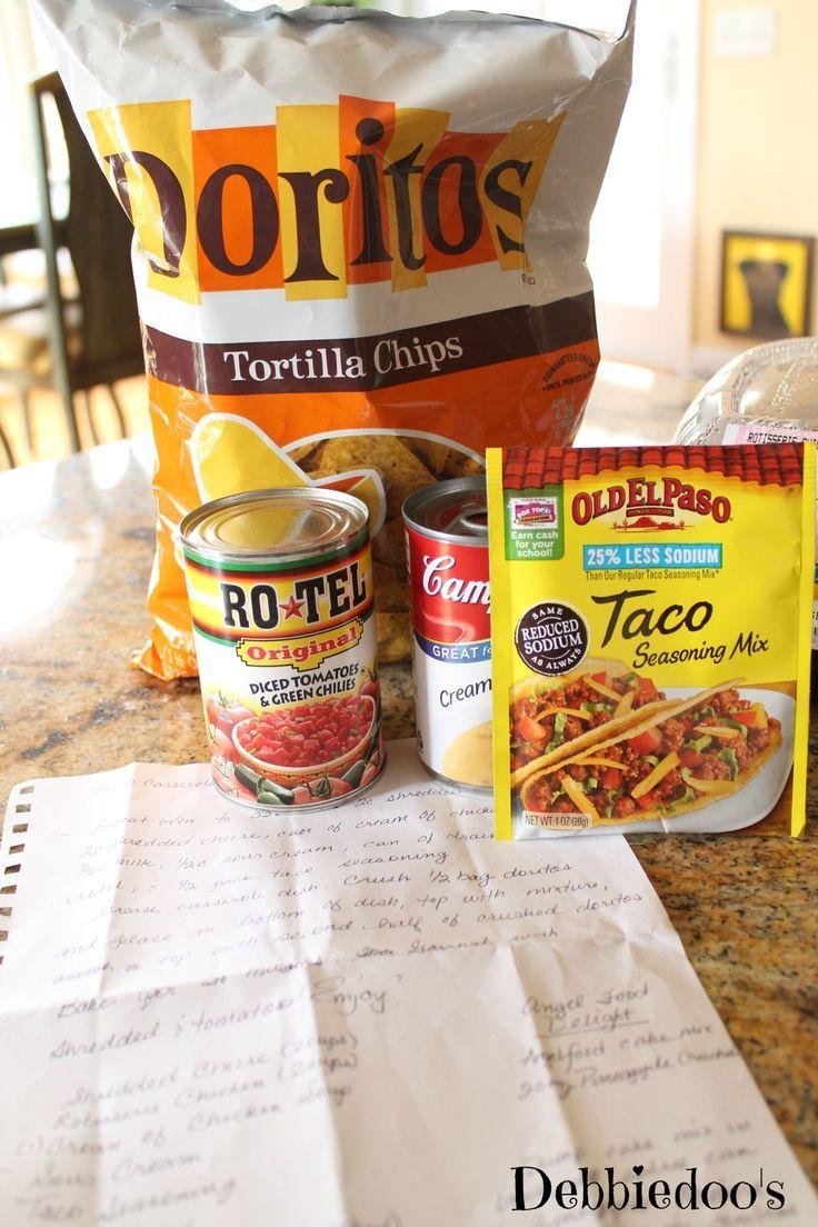 Chicken dorito casserole | this recipe uses rotisserie chicken...easy! From @Debbiedoo's