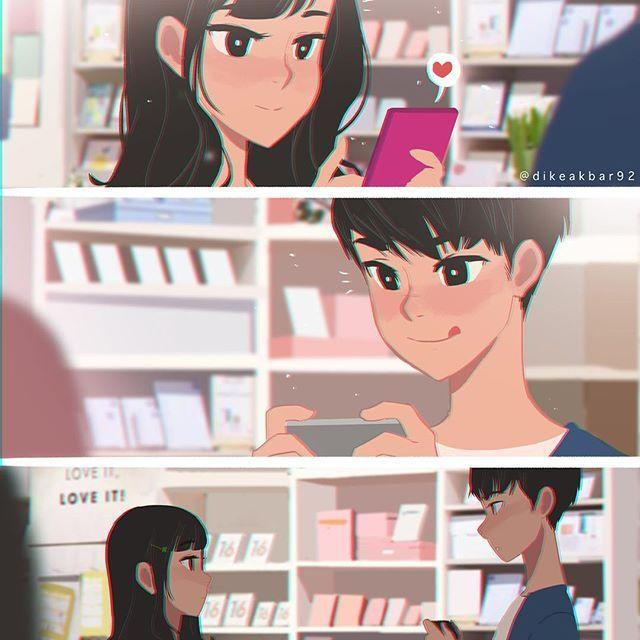 Manga Anime Romance Comics: Crush: Karin & Jooyoung (first Encounter) #crush