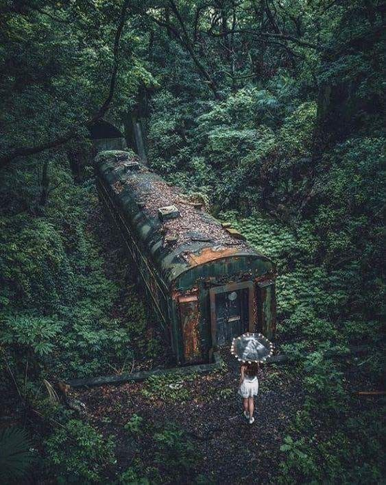 we climbed out of the train we were playing hide-and-seek in, only to find anoth…