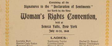 Seneca Falls Convention Declaration of Sentiments