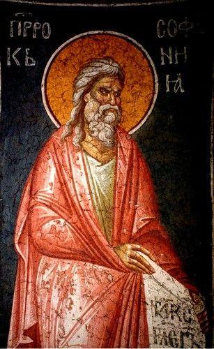 Святой Пророк Софония. Фреска монастыря Грачаница, Косово, Сербия. Около 1320 года.