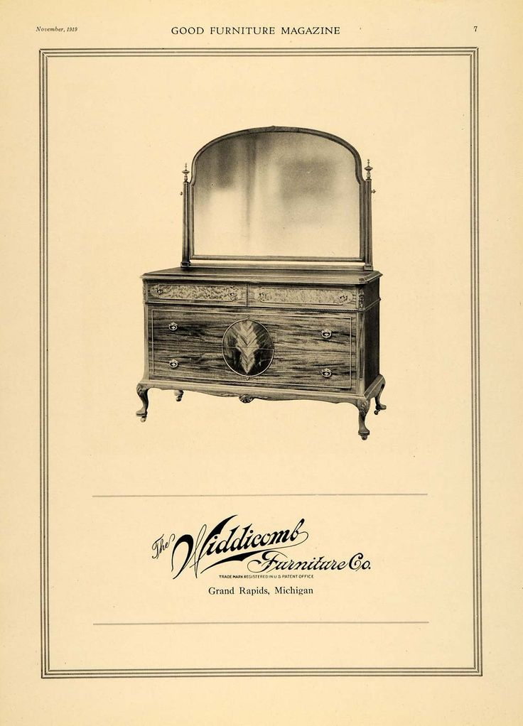 1919 Ad Widdicomb Furniture Dresser Table With Mirror Original Advertising Gf2