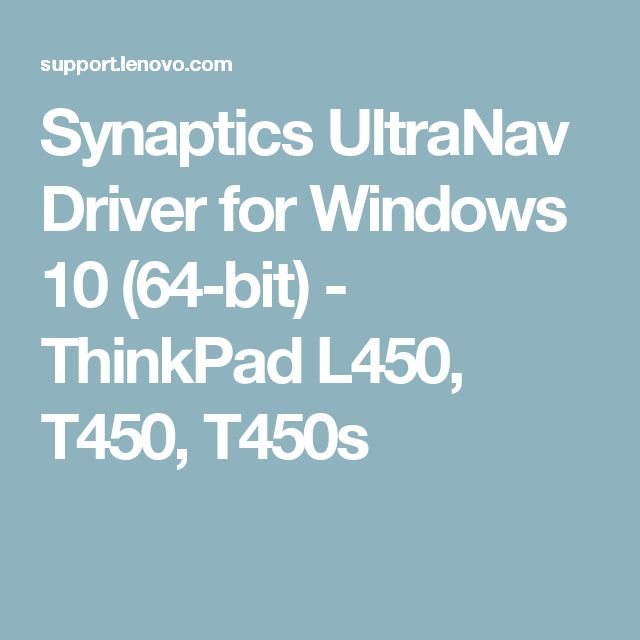 Download Synaptics Ultranav Driver Windows 10 Torrent