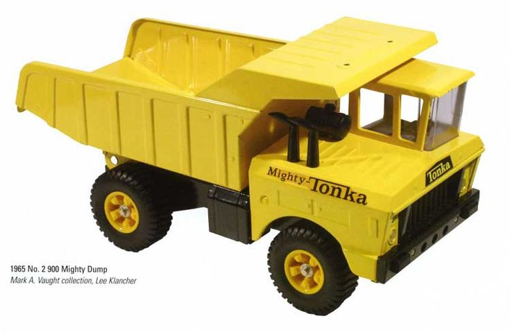 Back when Tonka Trucks were METAL. I used to drive my dolls around in mine.