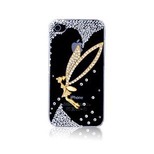 Gold tinkerbell crystal rhinestones alloy diy bling phone deco kit K6   chriszcoolstuff - Craft Supplies on ArtFire