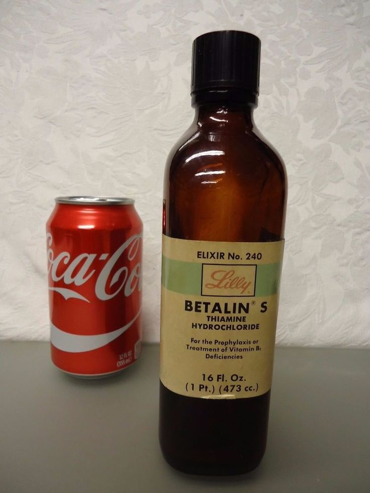 Eli Lilly Betalin S Thiamin Hydrochloride  Empty medicine Bottle