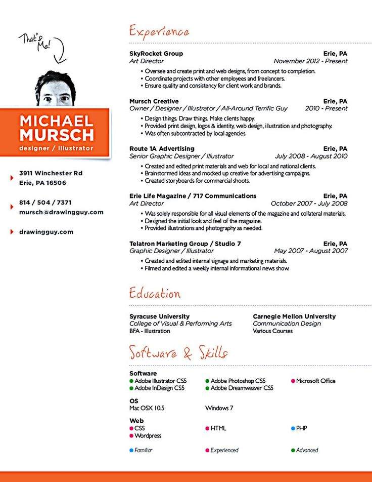 web design resume - Web Designer Resume Example