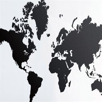 World Map väggdekoration - svart - Ferm Living    vi jobbar med projekt i hela världen!