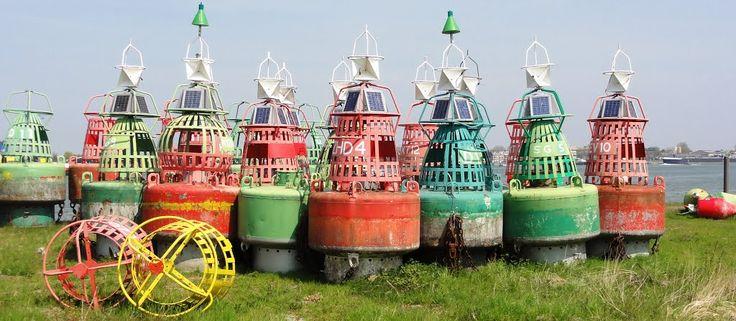 Buoys at Rijkswaterstaat, Rozenburg.